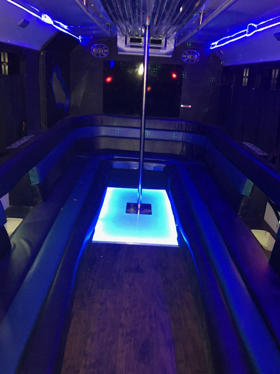 20-22 Passenger White Party Bus
