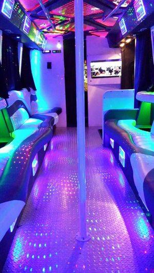 28-30 Passenger Party Bus Black Mercedes