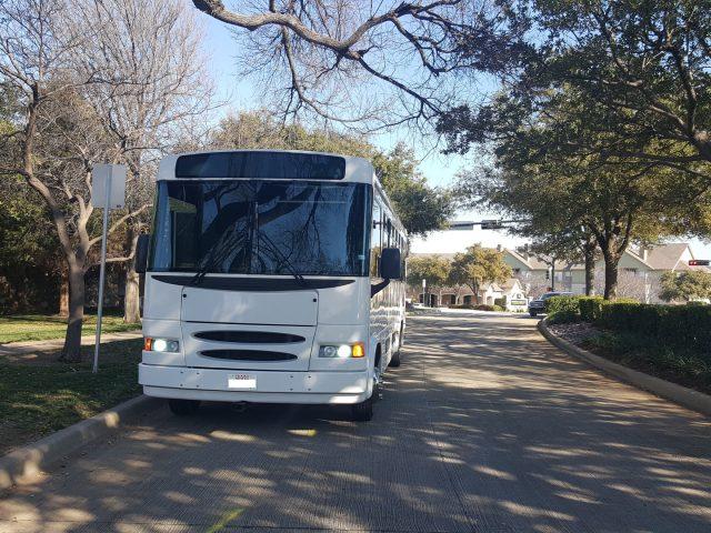 30 Passenger Party Bus White