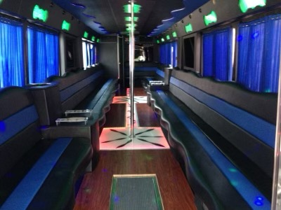 45 Passenger Party Bus with Bathroom